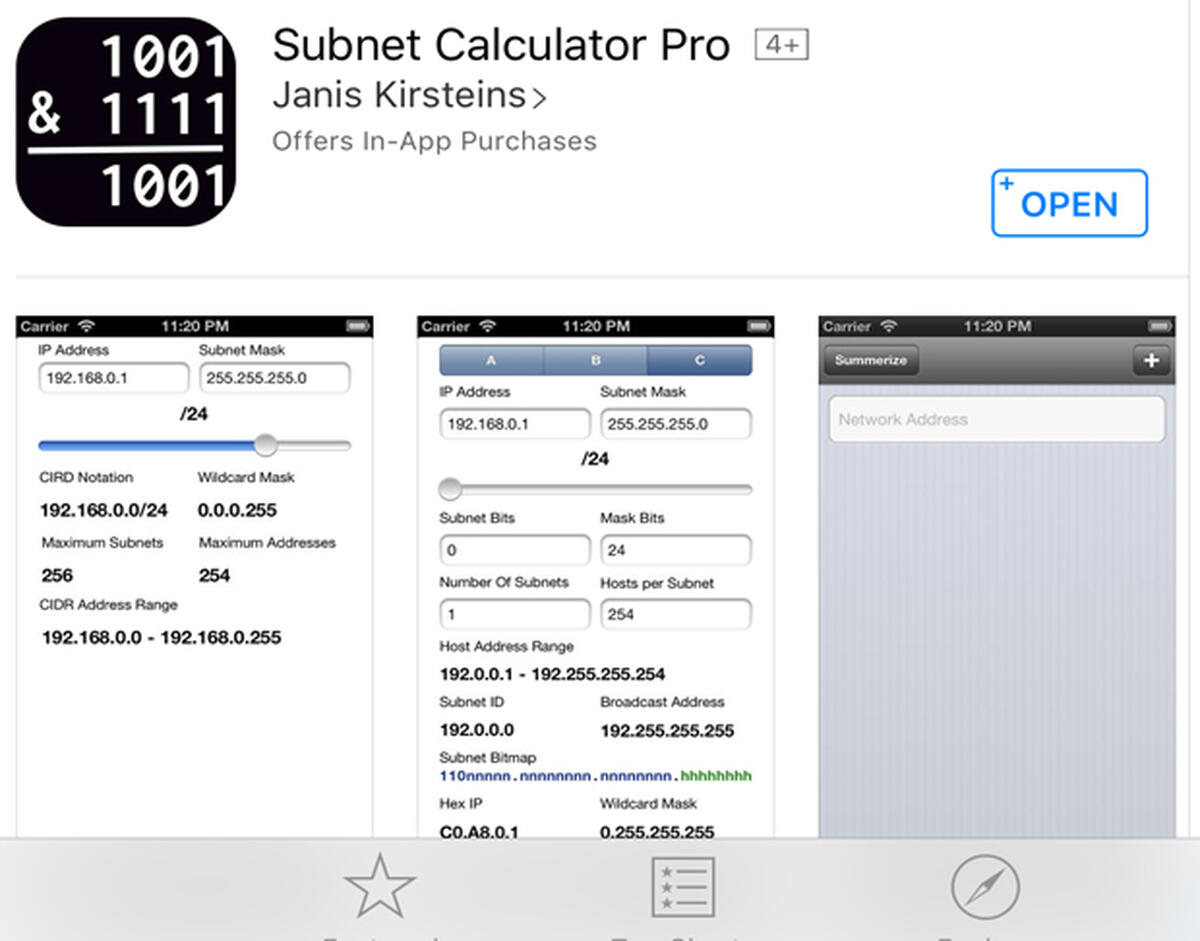 How to calculate network subnets on iOS with this free app - TechRepublic