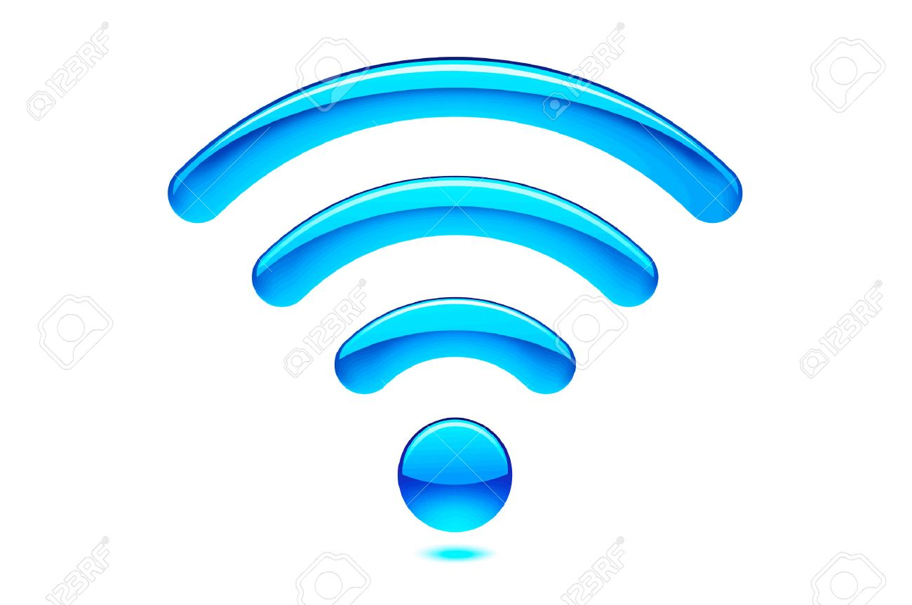 Modern Blue Wireless Wifi Wlan Symbol On White Background Stock Photo,  Picture And Royalty Free Image. Image 24378853.