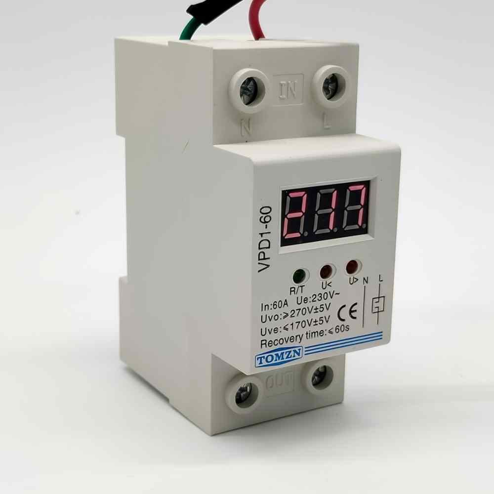 VPD1 40A 60A 220V Kết Nối Lại Quá Điện Áp Và Dưới Bảo Vệ Điện Áp Bảo Vệ  Thiết Bị Tiếp Sức Với Vôn Kế Điện Áp Màn Hình|với relay|bảo vệ điện