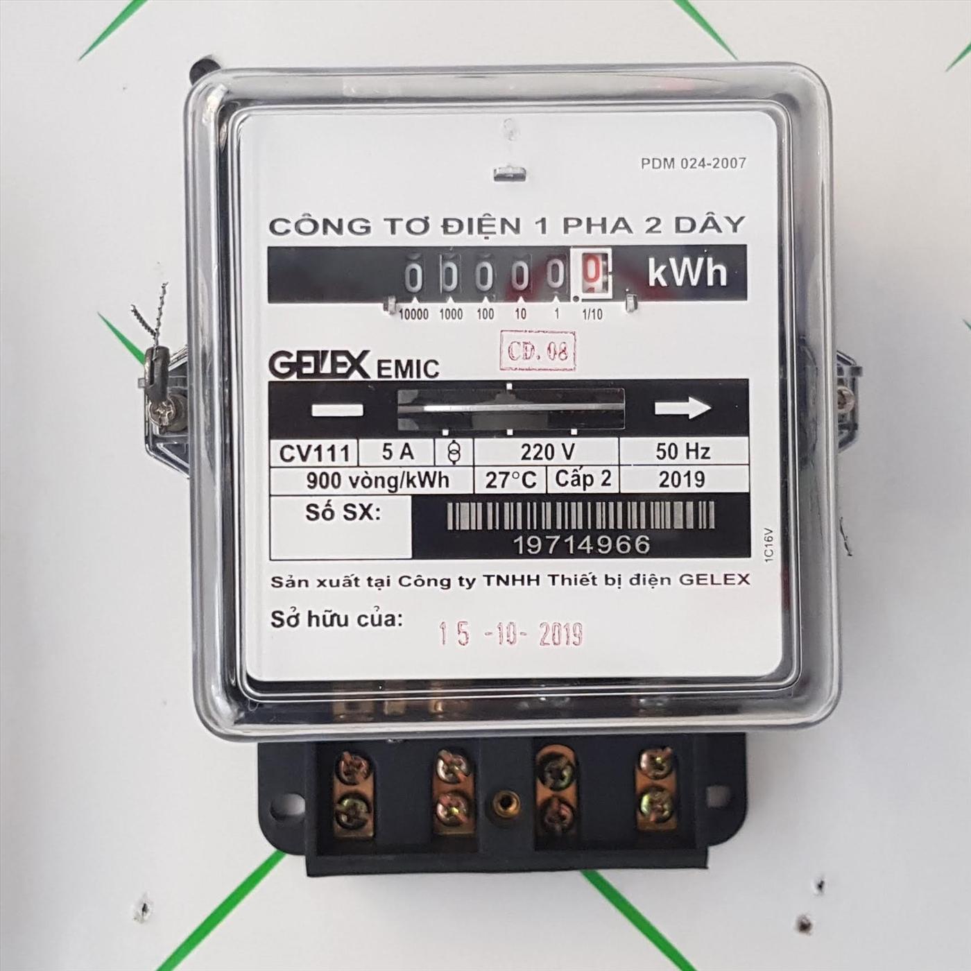 Thiết bị công tơ điện 1 pha gián tiếp EMIC - Công tơ 1 pha EMIC CV111