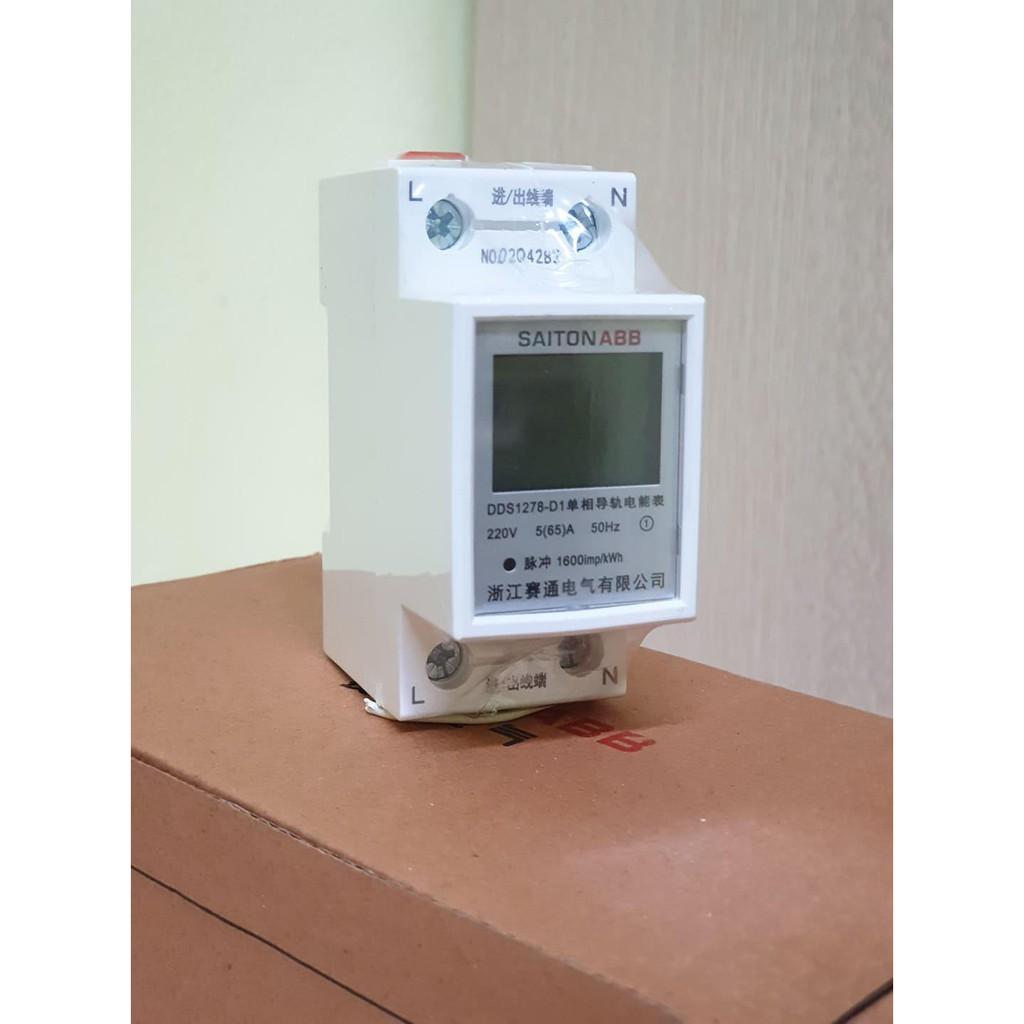 Công tơ điện tử, thiết bị đo công suất SAITON ABB 65A | Shopee Việt Nam