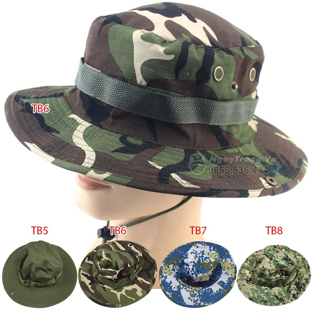Mũ tai bèo nón Ngụy trang rằn ri 4 màu - Tuấn Ngụy Trang cung cấp Lưới ngụy trang, đồ ngụy trang, ná cao su, phụ kiện đi...