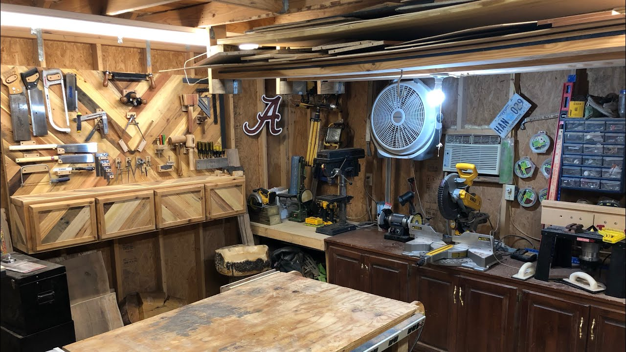 2019 Shop Tour //Small Shop//Woodworking Shop// Dimensions Wood Works -  YouTube