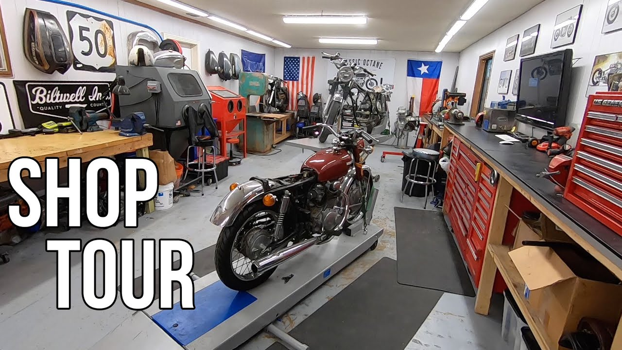 Building the ultimate motorcycle workshop - YouTube