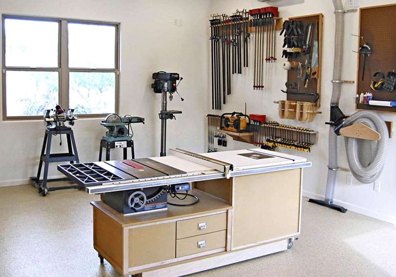 Setting Up A Small Woodshop For Under 00 | Cool Woodwork | Wood shop, Home  workshop, Woodworking
