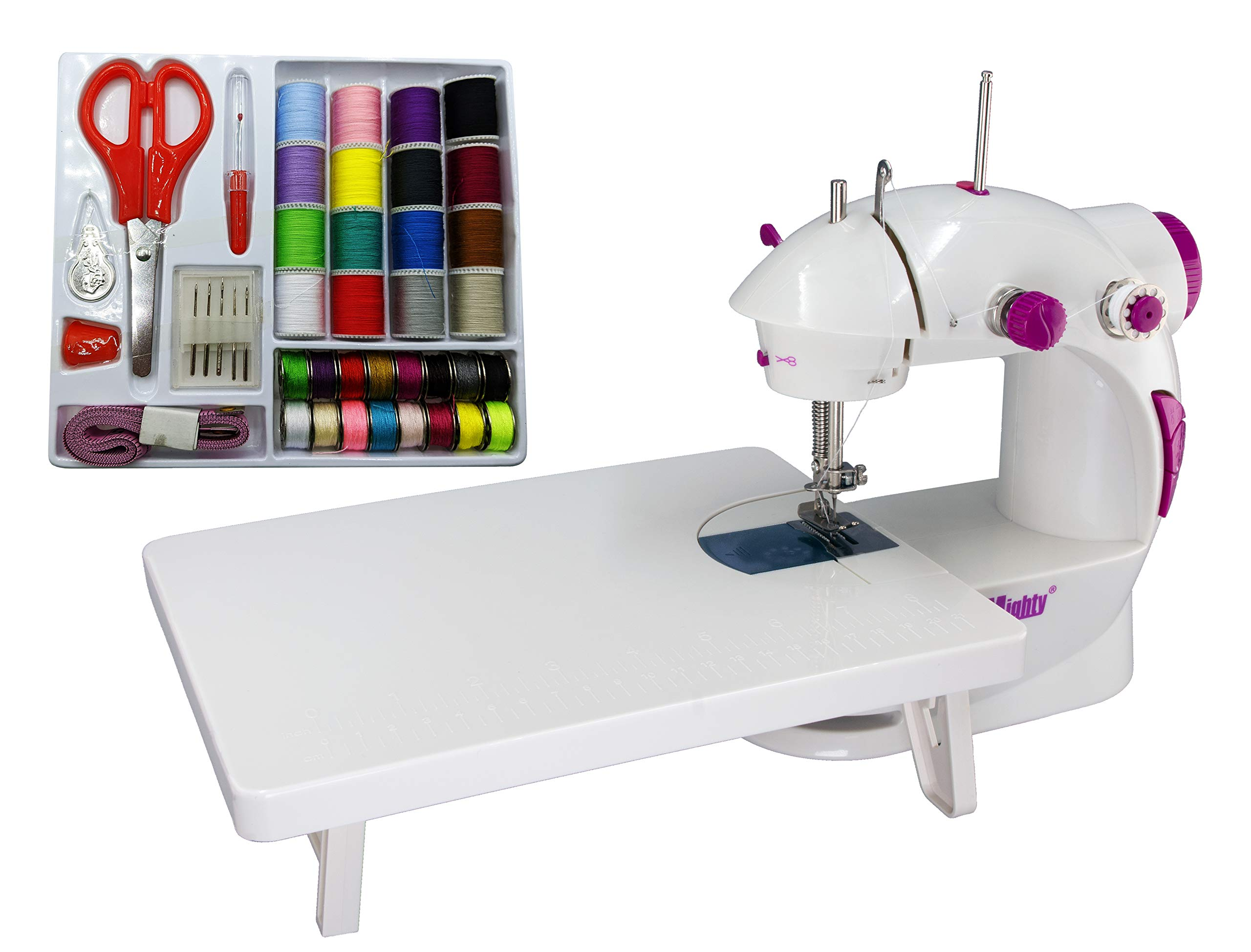 Mua Sew Mighty, The Original Mighty Mini Portable Sewing Machine for  Beginners, Kids, Travel, Quick Repairs & Small Projects – Dual-Speed,  Battery & AC Power, Extension Table, Foot Pedal (Mighty Mini Kit)