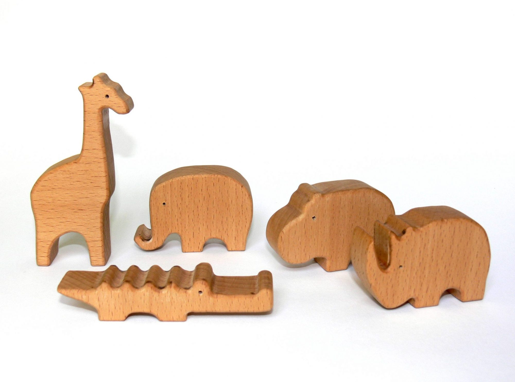 Baby African animals Wooden Toy Set | Eco friendly handmade wooden toys by  Botanica Works