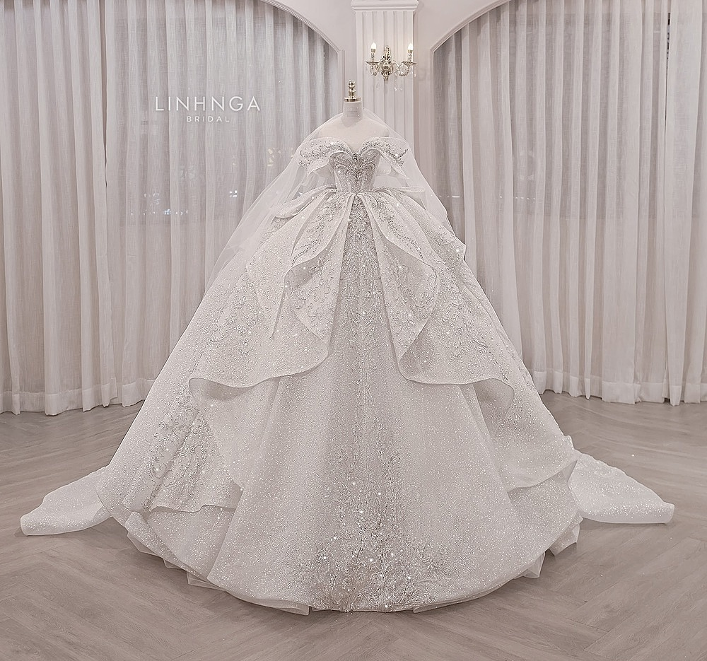 Ba mẫu váy cưới của hot girl Xoài Non từ Linh Nga Bridal - Ngôi sao