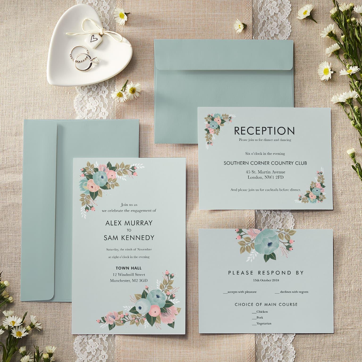 Personalised Wedding Invitations & Announcements | Vistaprint
