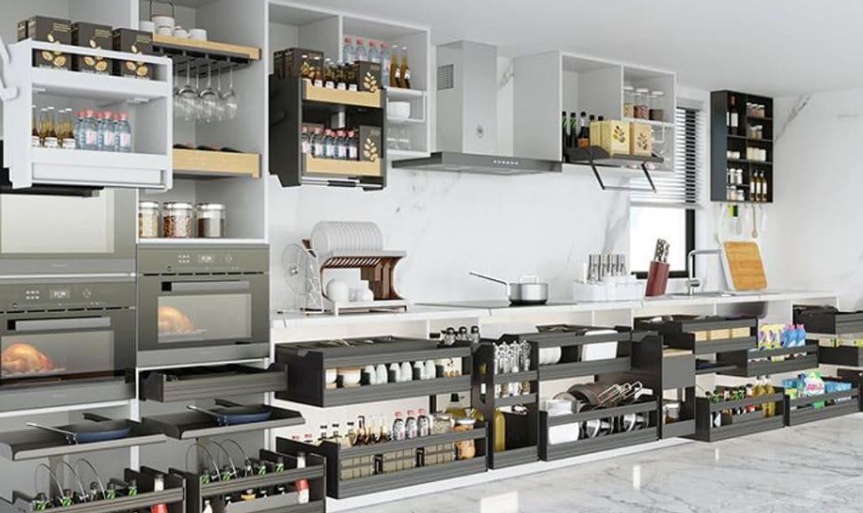 Phụ Kiện Tủ Bếp - Cách Chọn Phụ Kiện Tủ Bếp Hiệu Quả - Giảm Giá XL