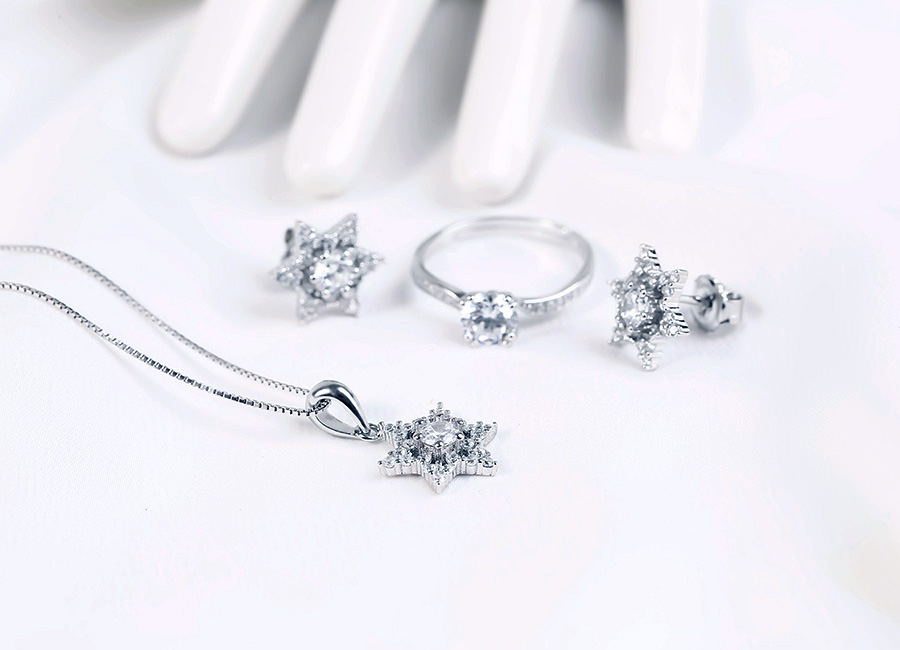 Bộ trang sức bạc Love Star
