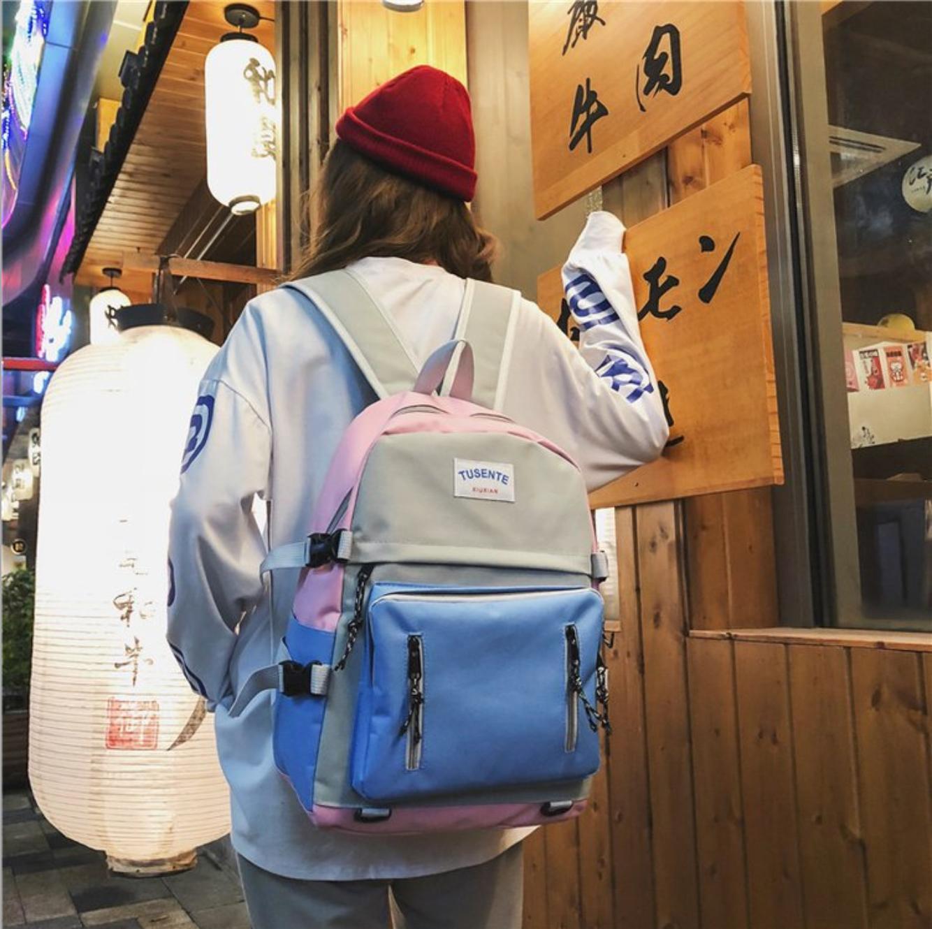 Balo đi học phong cách hàn quốc 8226 (Màu xanh) - BaloStore.Com