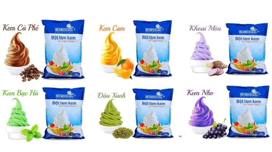 Top 7 nhà cung cấp bột làm kem tươi giá sỉ uy tín