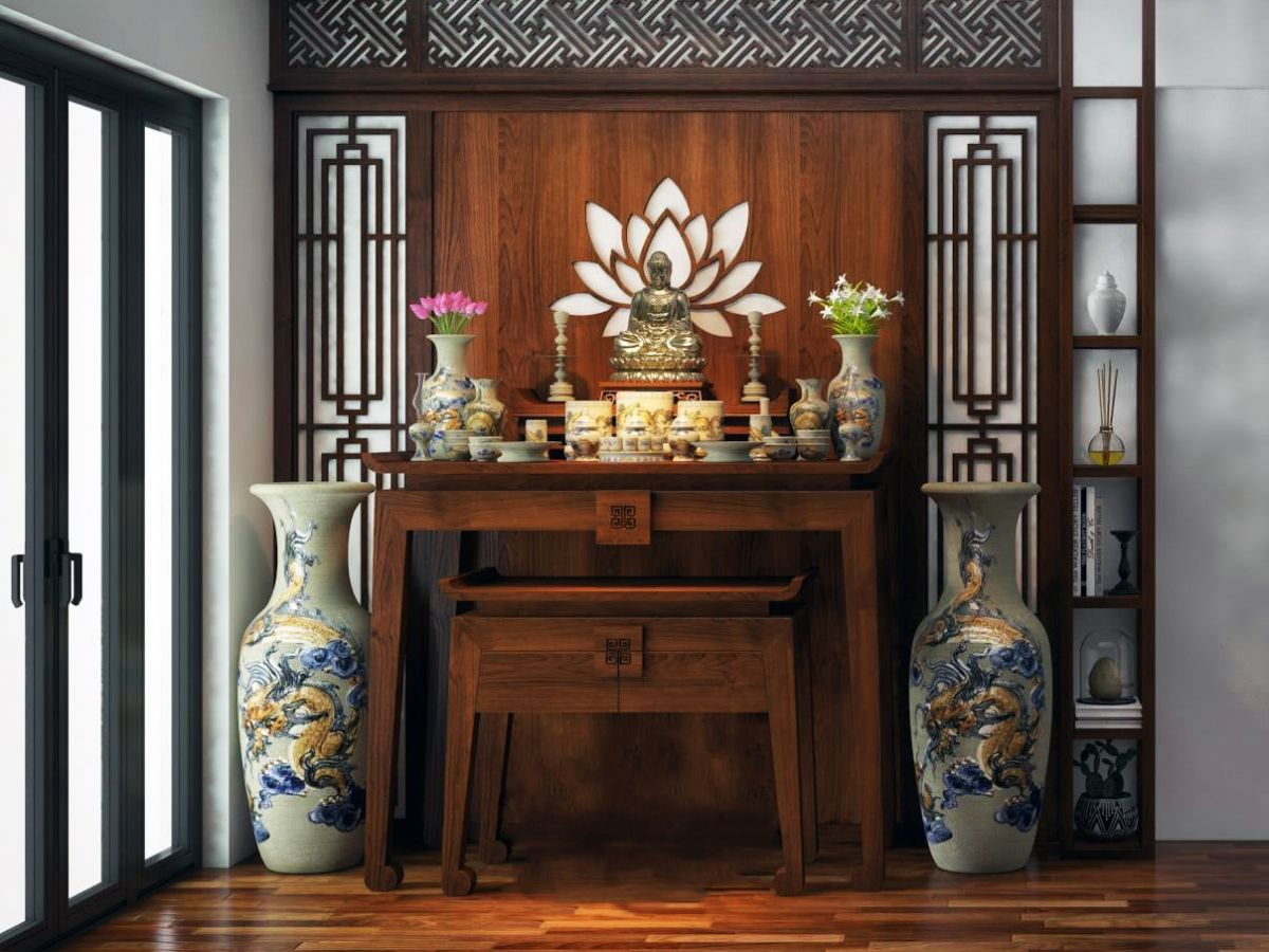 Hướng dẫn cách bài trí bàn thờ Phật đúng quy cách tại nhà