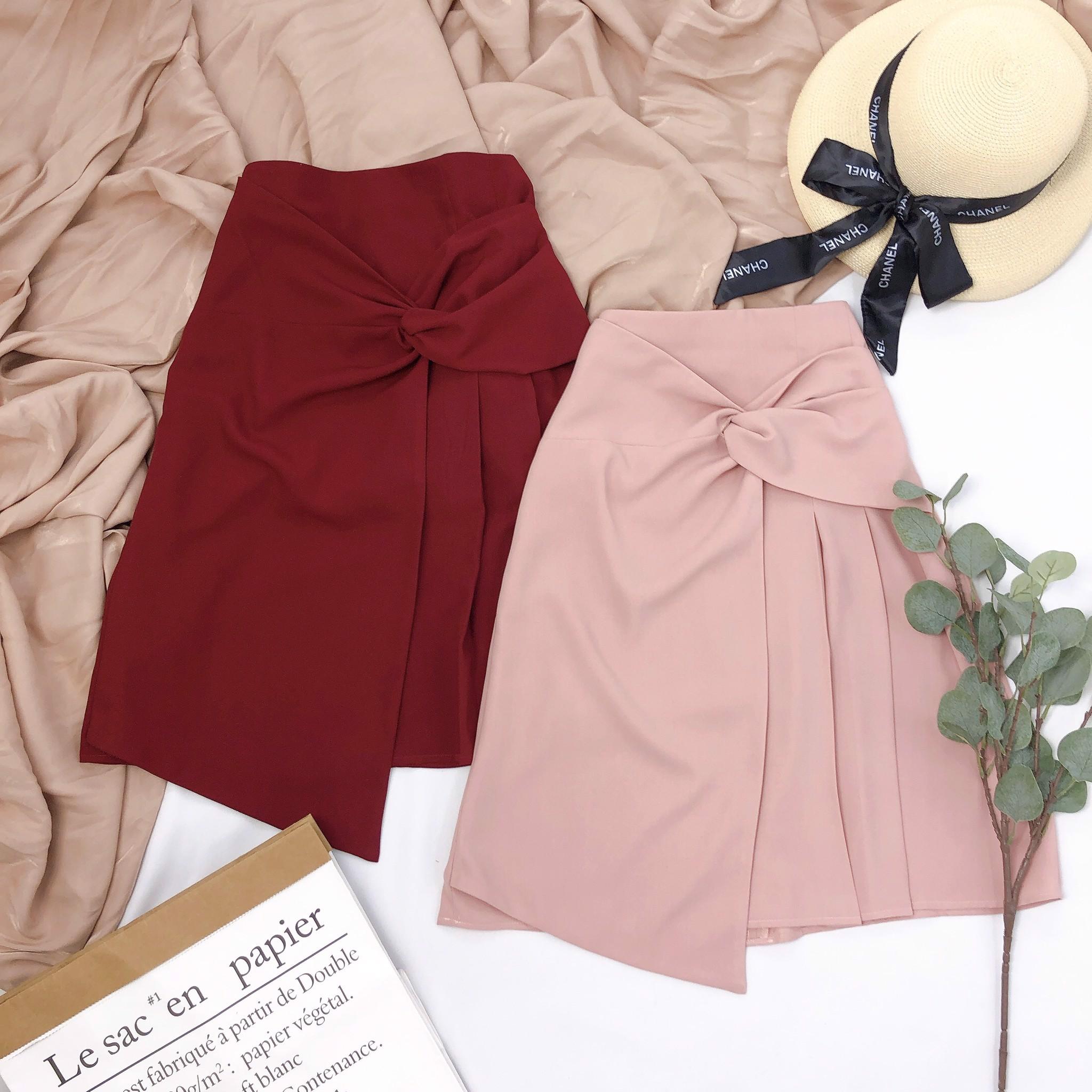K04235 Chân váy chữ A xếp ly – Khéo Fashion