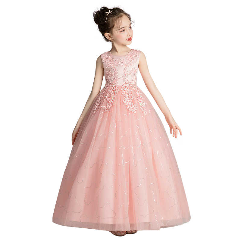 Mùa Hè Năm 2021 Cô Dâu Trẻ Em Áo Váy Cho Bé Gái Trẻ Em Dài Đầm Công Chúa Cưới Vestidos Cô Gái ĐẦM DỰ TIỆC 4 10 12 năm|Dresses| - AliExpress