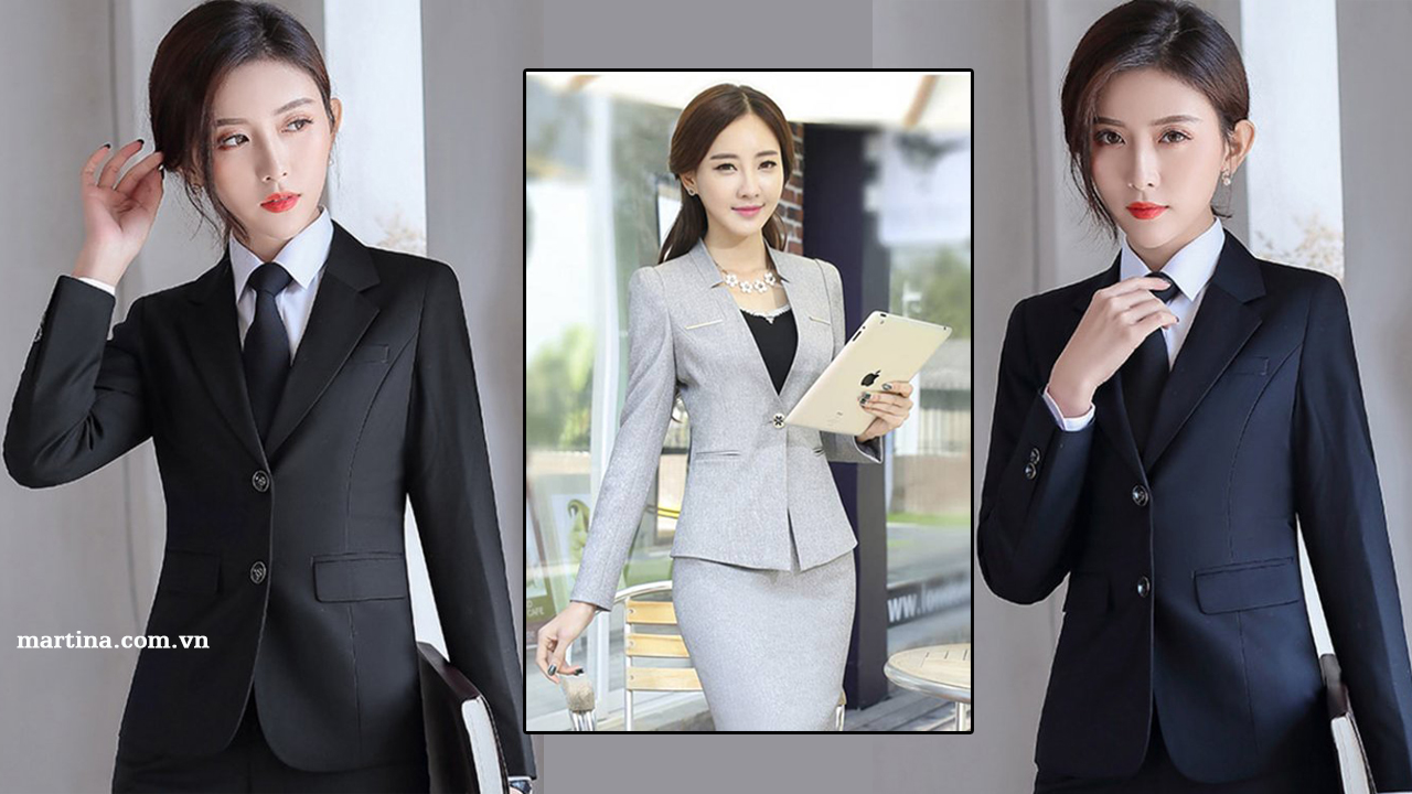 Mẫu áo vest nữ công sở giá rẻ, đẹp, trẻ trung- Áo vest công sở Hàn Quốc