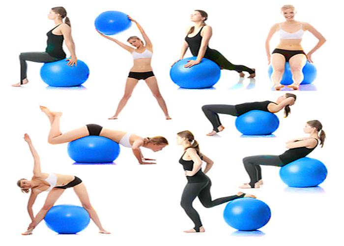 Bóng tập yoga cao cấp 75cm trơn - Thể Thao Trường Giang