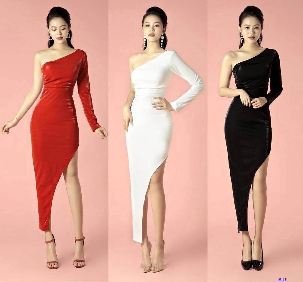 Đầm Ôm Body Lệch Vai Tay Dài Xẻ Tà Sang Trọng, giá tốt nhất 450,000đ! Mua  nhanh tay! | Bigomart.Info