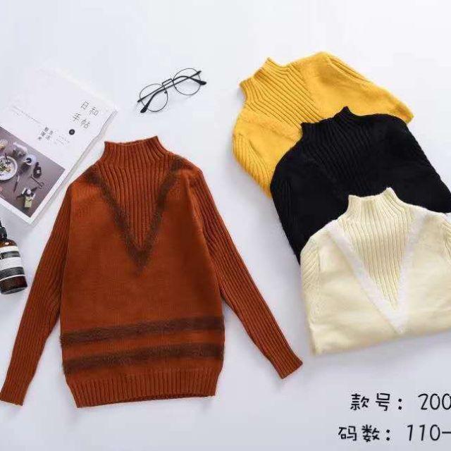 Áo len nữ thời trang cho bé gái. Chất đẹp,mẫu mã y hình giảm chỉ còn 145,000 đ
