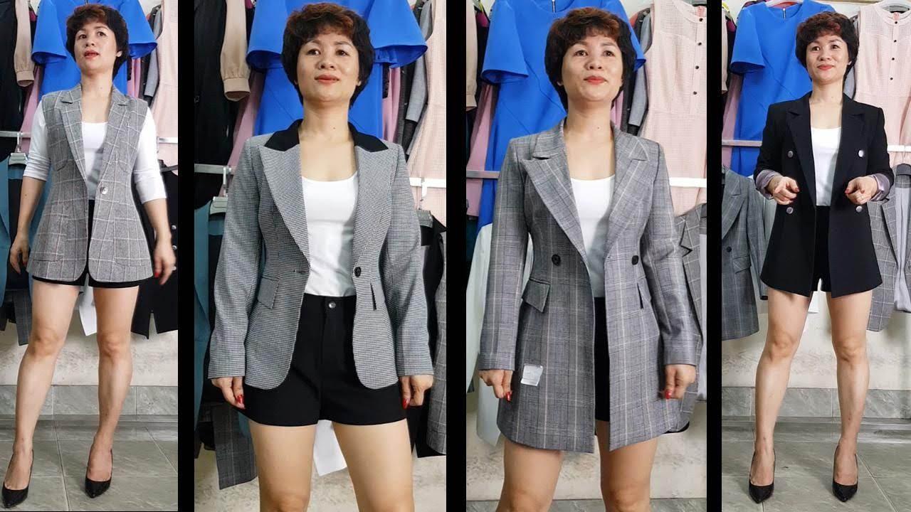 4 cách Mix đồ áo Vest nữ với quần Short | Thời Trang Thuỷ Hải Phòng