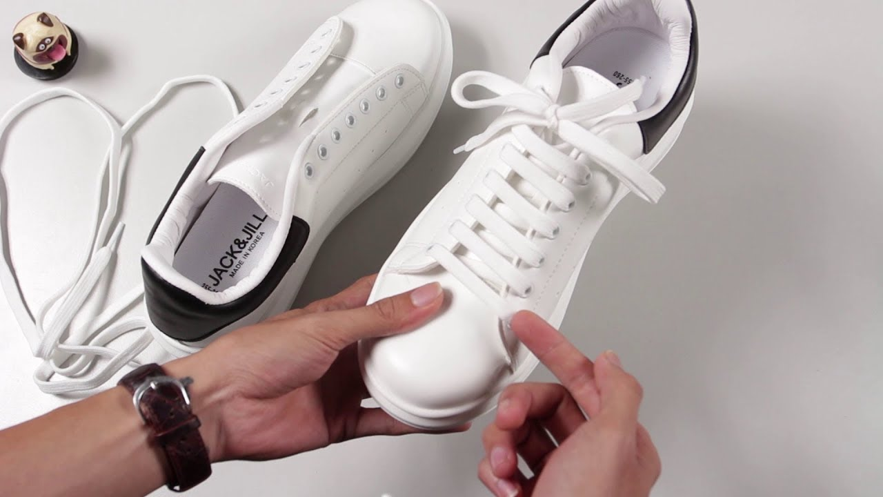 Hướng dẫn buộc dây giày kiểu Alexander McQueen Sneaker - YouTube