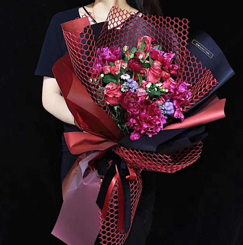 Giấy Gói Hoa tươi Hoa Lưới Giấy Bó Hoa Nguồn Cung Cấp Hollow Vòng Vật Liệu  Đóng Gói Wedding Party Deco 60 cm * 5 sân|Craft Paper| - AliExpress