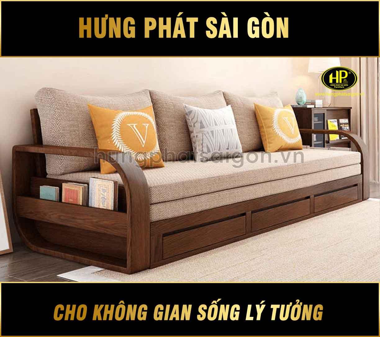 Sofa giường gỗ mới nhất G-08 - Hưng Phát Sài Gòn