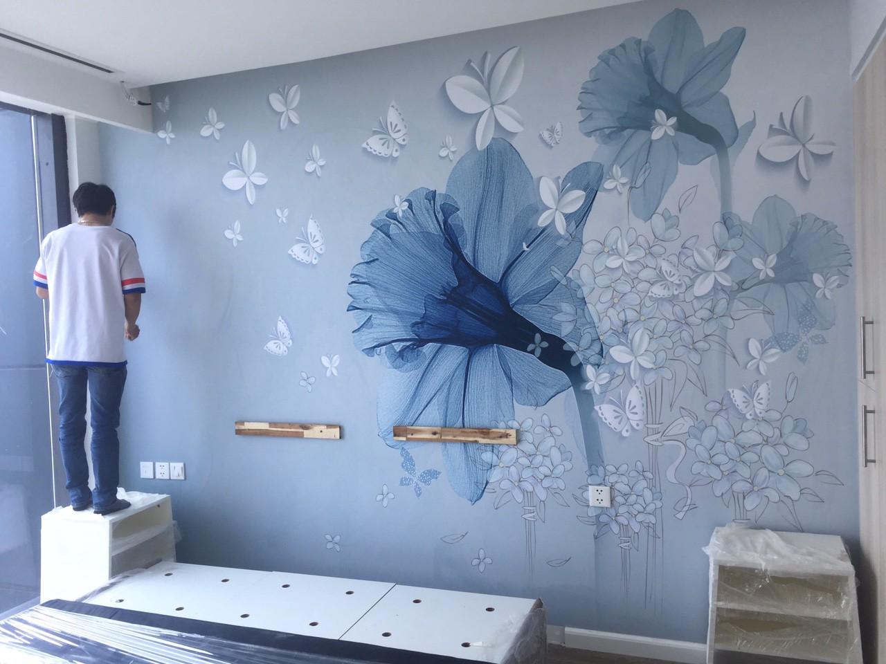 Giá thi công giấy dán tường tại Hải Phòng Theo m2 cho phòng ngủ phòng khách trọn gói giá rẻ nhất 2021 - Giấy dán tường giá bao nhiêu tiền 1m2, Giá