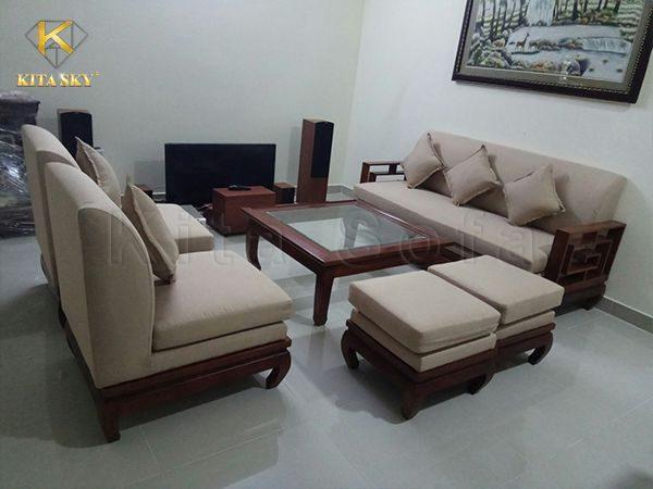 Bọc mới ghế sofa, bọc nệm ghế sofa đẹp bao vận chuyển