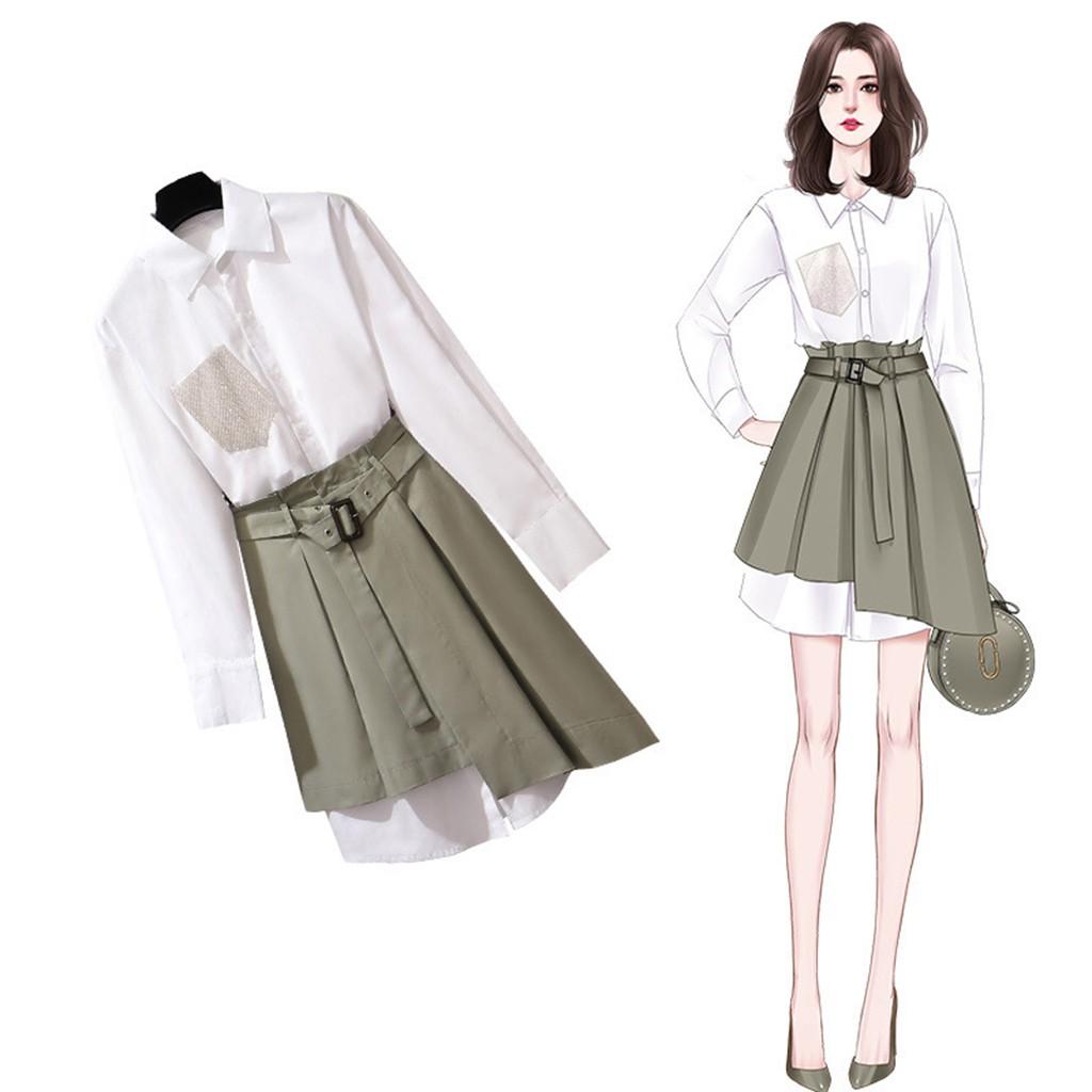 SET đồ nữ thời trang công sở mới 2020 / Trang phục công sở , sơ mi công sở  , chân váy công sở, váy | Shopee Việt Nam