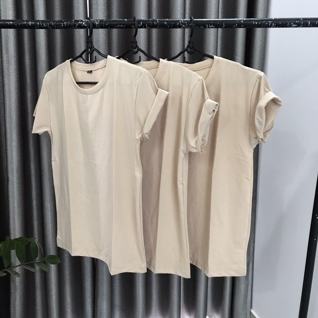 Áo Thun Màu Be Vải Siêu Dày Đẹp | Shopee Việt Nam