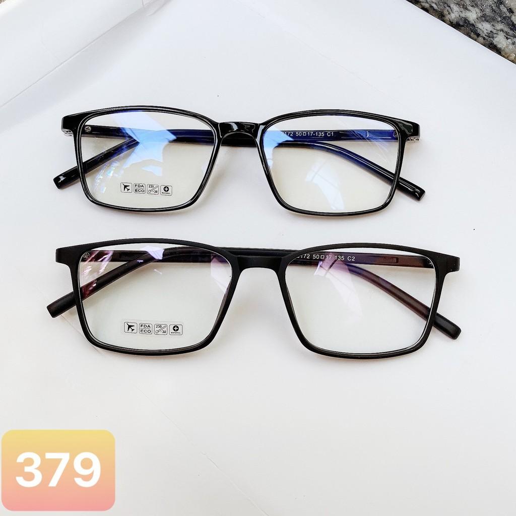 Gọng kính cận vuông B1005 phù hợp cả nam và nữ form mặt tròn bầu kèm sẳn  tròng 0 độ chống ánh sáng xanh | Shopee Việt Nam