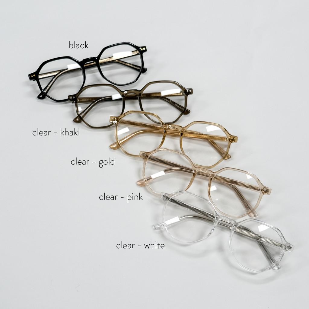 gwilee] octagon frame glasses - Kính bát giác Hàn Quốc (5 màu) (gọng kính  cận) | Shopee Việt Nam