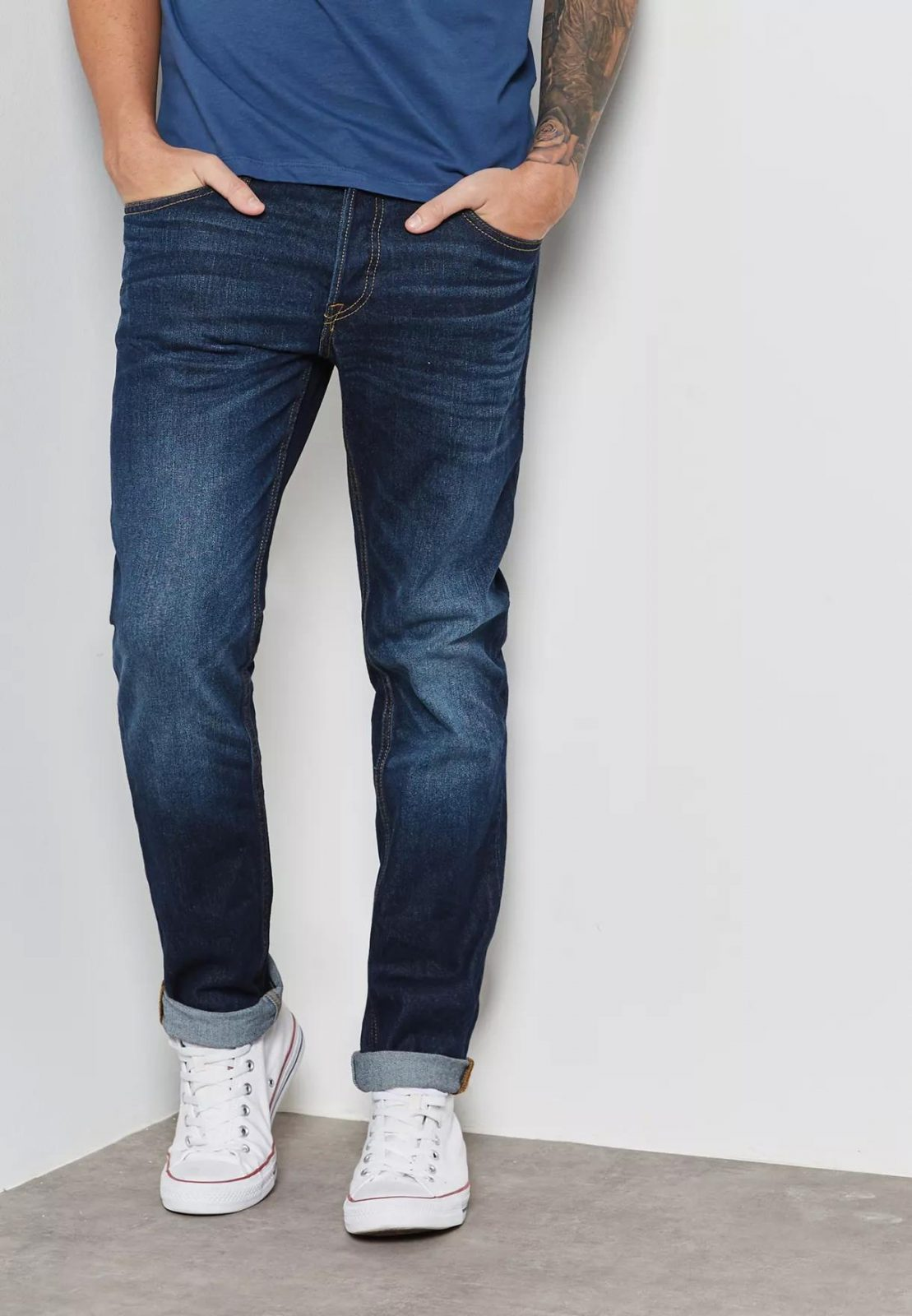 Quần jeans nam Jack & Jones JAJ-J02 Tim Slim Fit Jeans