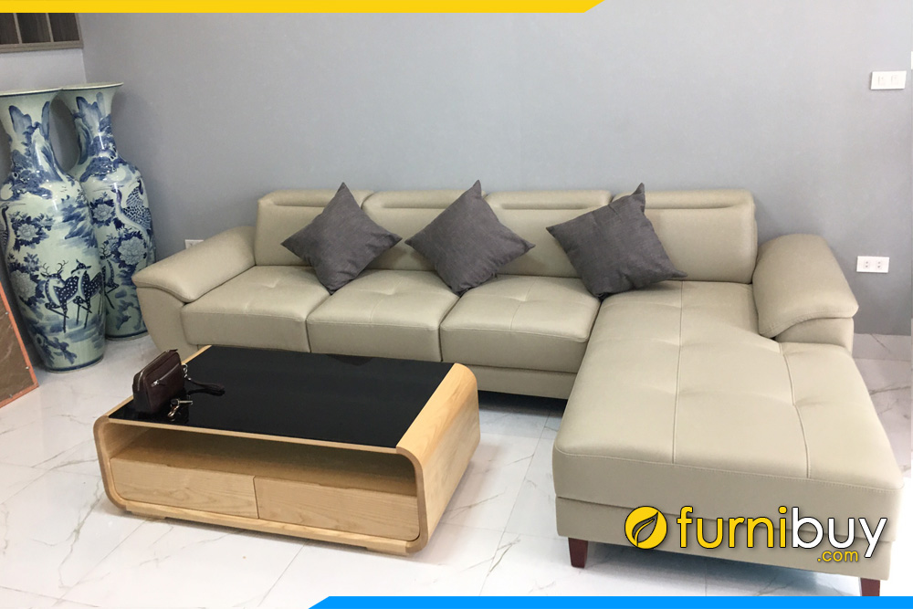 Ghế Sofa Góc Đẹp Bọc Da Cao Cấp Kê Phòng Khách FB 0931