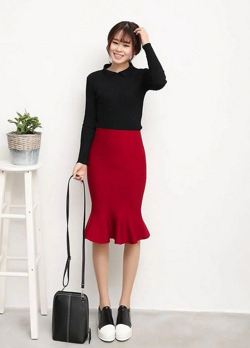 Cách mix áo len với chân váy dài đơn giản mà đẹp để bạn thỏa sức diện đông