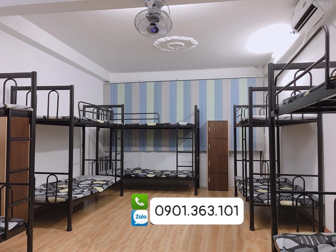 Giường sắt tầng sinh viên giá rẻ - Nội thất Tứ Hưng
